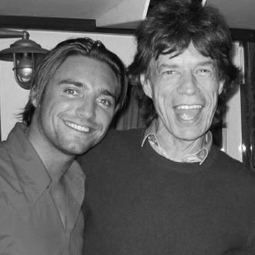 Mick Jagger et Cyril Peret
