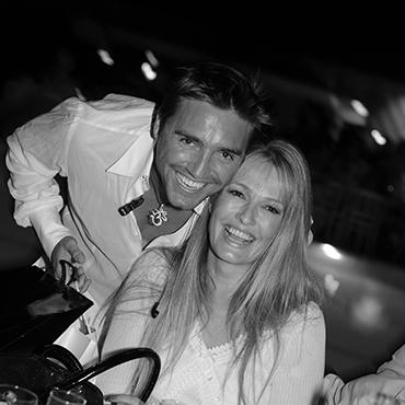 Karen Mulder et Cyril Peret