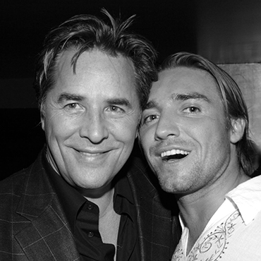 Don Johnson et Cyril Peret